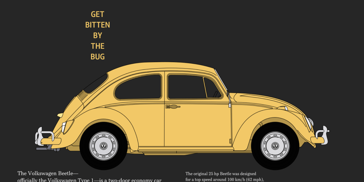 VW Beetle Ad Design