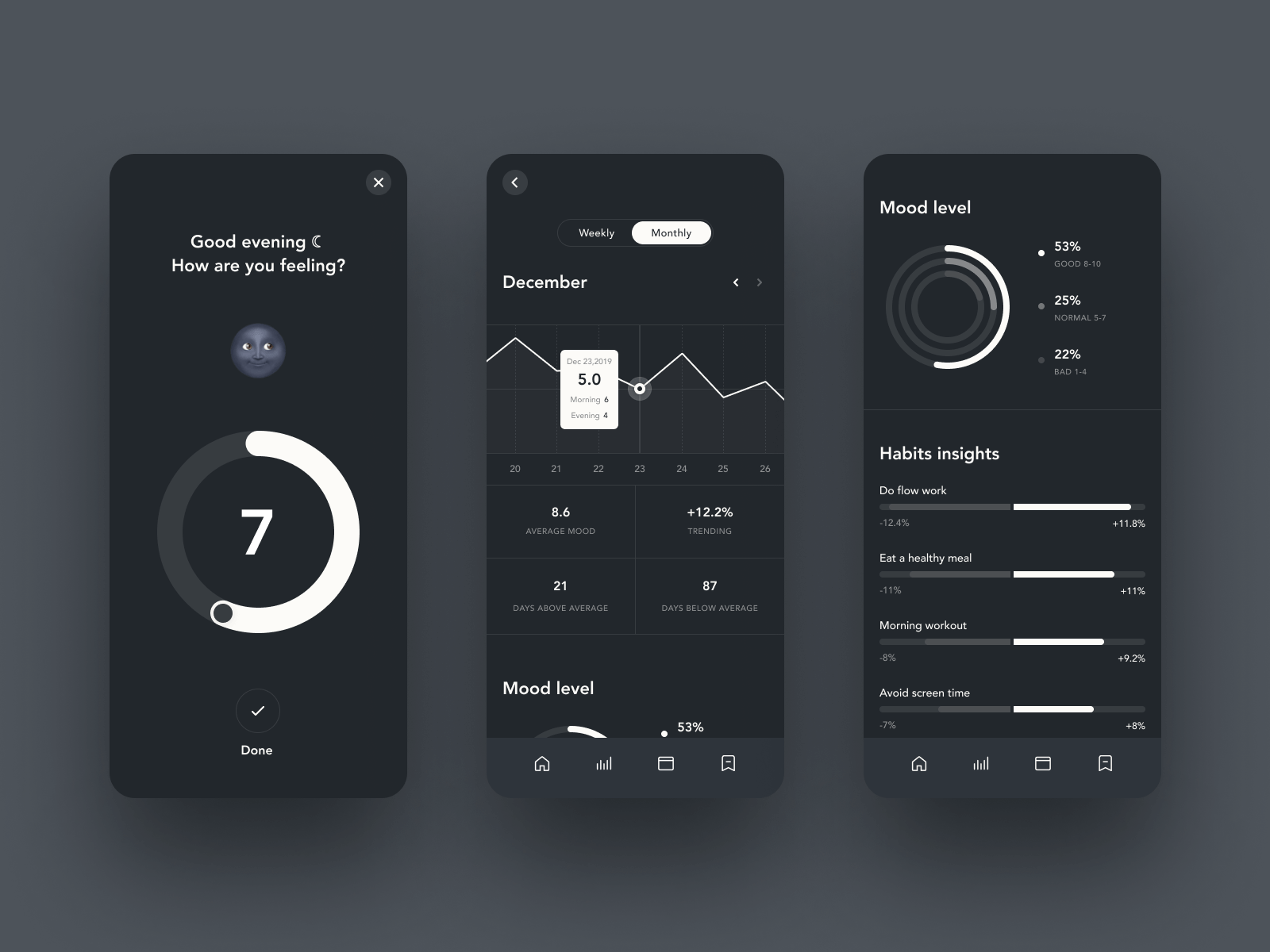 25 Dark Mode UI Design Examples