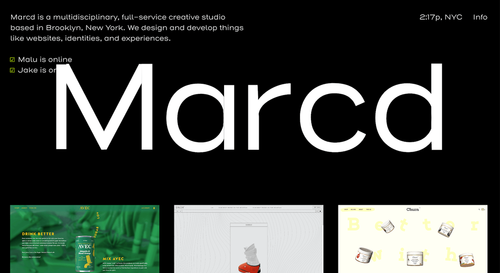 Marcd Landing Page