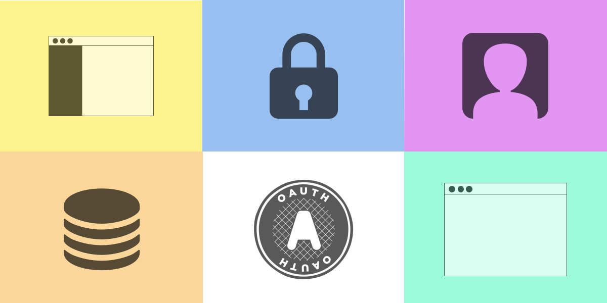 API, Authentication and JAMStack Logos