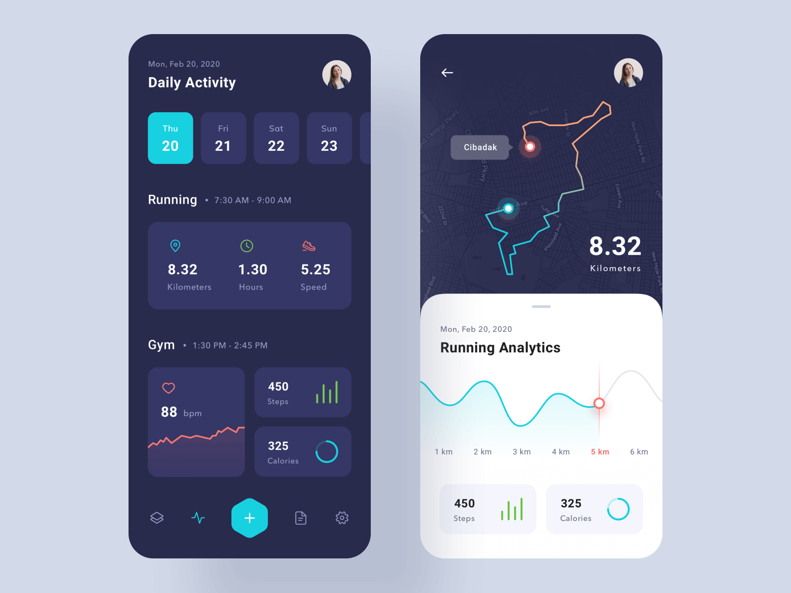 Workout App UI